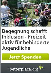 Wir hoffen auf Spenden für die Inklusion von schwer behinderten Jugendlichen aus Hannover