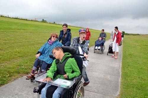 Ausflug mit behinderten Kindern in der Region Hannover