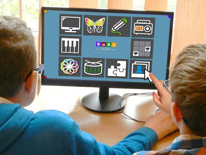 Software 'SuSi' auf dem Monitor