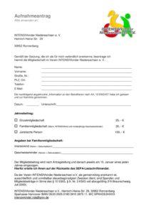 Aufnahmeantrag INTENSIVkinder Niedersachsen e.V.