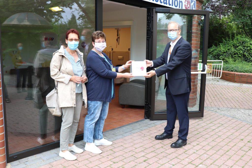 Eröffnung der Pflegetoilette im Heide Park Resort in Soltau